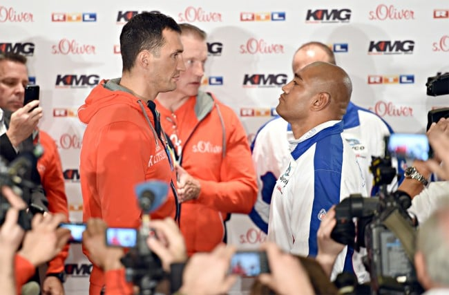 VIDEO: Leapai and Klitschko weigh-in and staredown