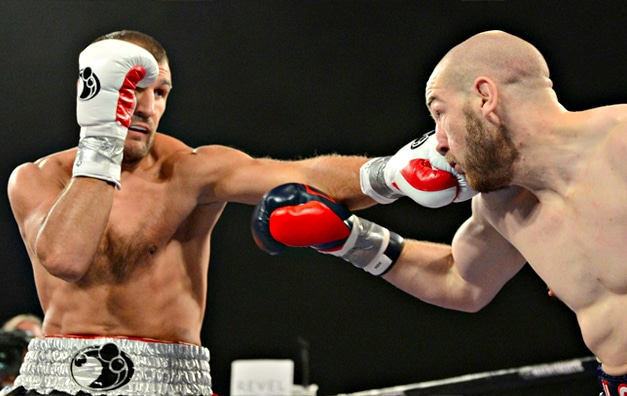 Courageous Caparello downed in two by Kovalev