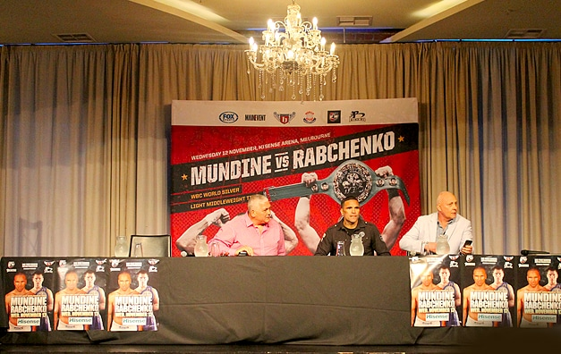 Quick Grabs: Mundine vs. Rabchenko Press Conference