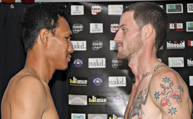 Weigh-In Results: Davey Browne Jr 58.75 vs. Denkamon Pakdee Gym 58.15