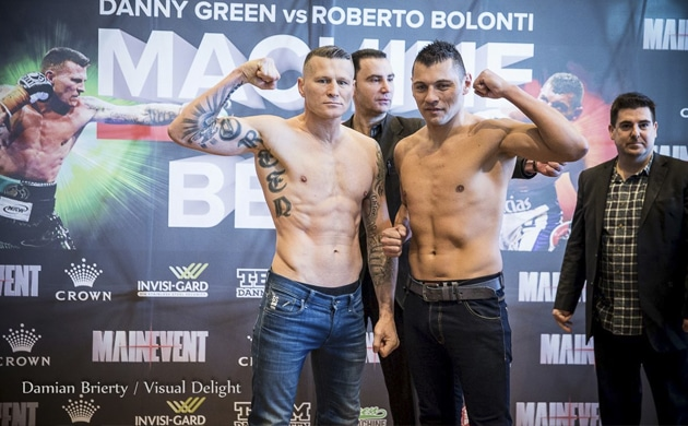Weigh-In Results: Danny Green 84.95 vs. Roberto Bolonti 84.75