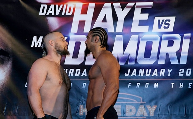 Weigh-In Results: David Haye 103.10 vs. Mark De Mori 110.40