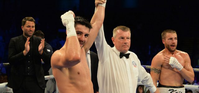 Kris George surrenders Commonwealth title to Josh Kelly